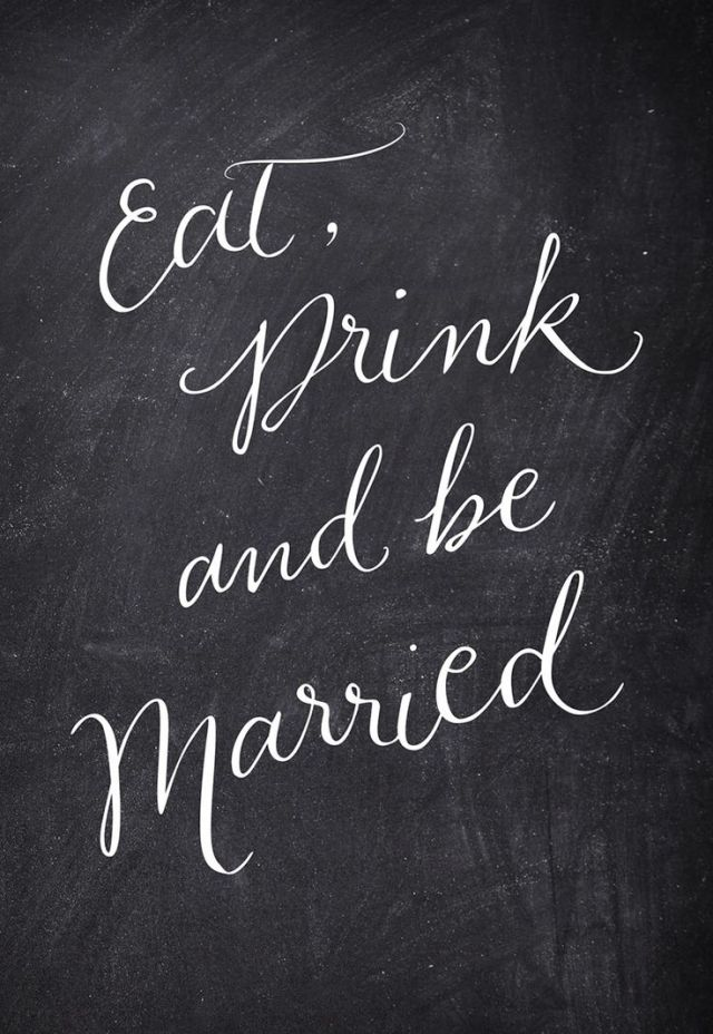eat,drink, and be married